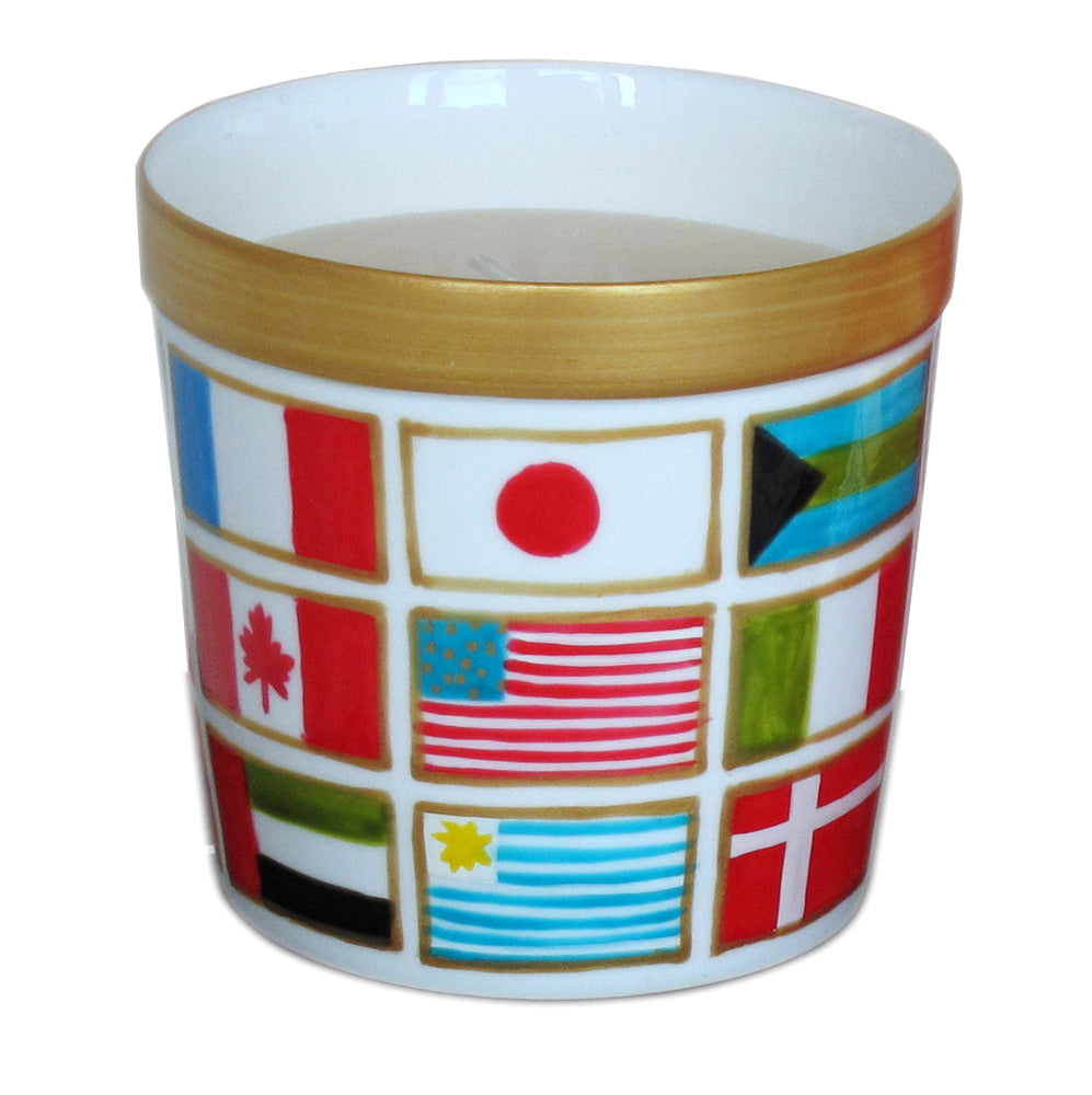 FLAGS - Luxury Scented Candle in painted bone china jar holder, gift boxed