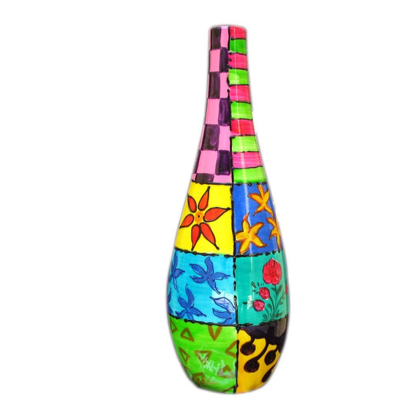JAZZ Hand Painted Olive Oil Bottle, gift boxed