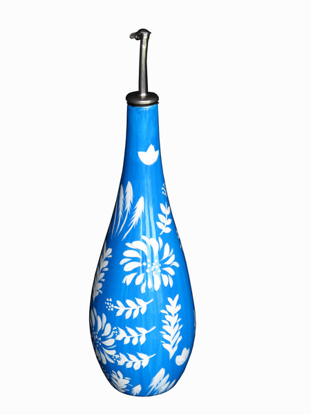 BLUFLO Painted Olive Oil or Vinegar Bottle with Pourer