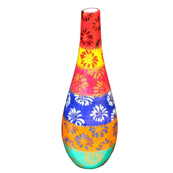 COLOUR FIREWORK Decorative Painted Olive Oil Bottle