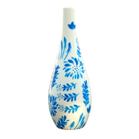 JARDIN BLEU Painted Olive Oil Bottle with Pourer