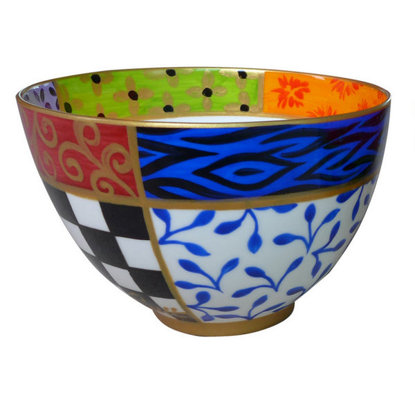 QUAD - hand painted decorative bowl in bone china