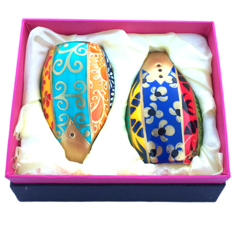 EUPHORIA Salt and Pepper in hand painted bone china, gift boxed