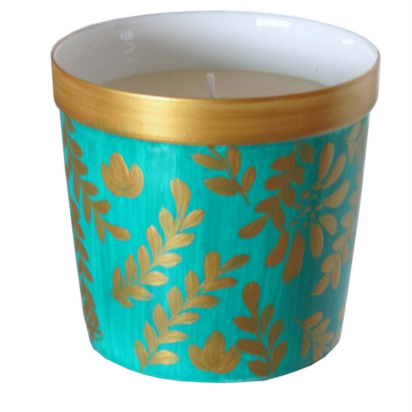 GREGO Luxury Scented Candle in painted bone china, gift boxed