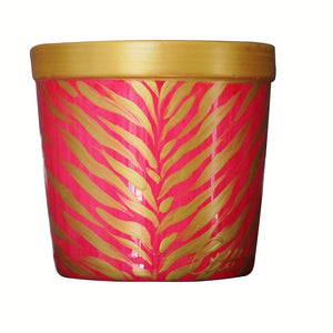 LUXURY ZEBRA  - Mother's Day Scented Ceramic Candle in Holder of 42% Bone China entirely Hand Painted