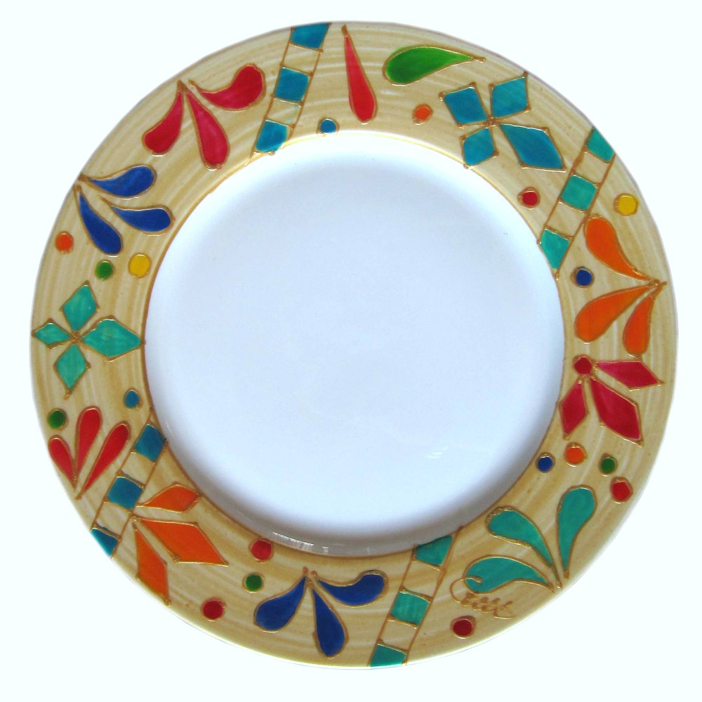 QUEEN OF SHEBA Hand Painted Bone China Plates (6) gift boxed
