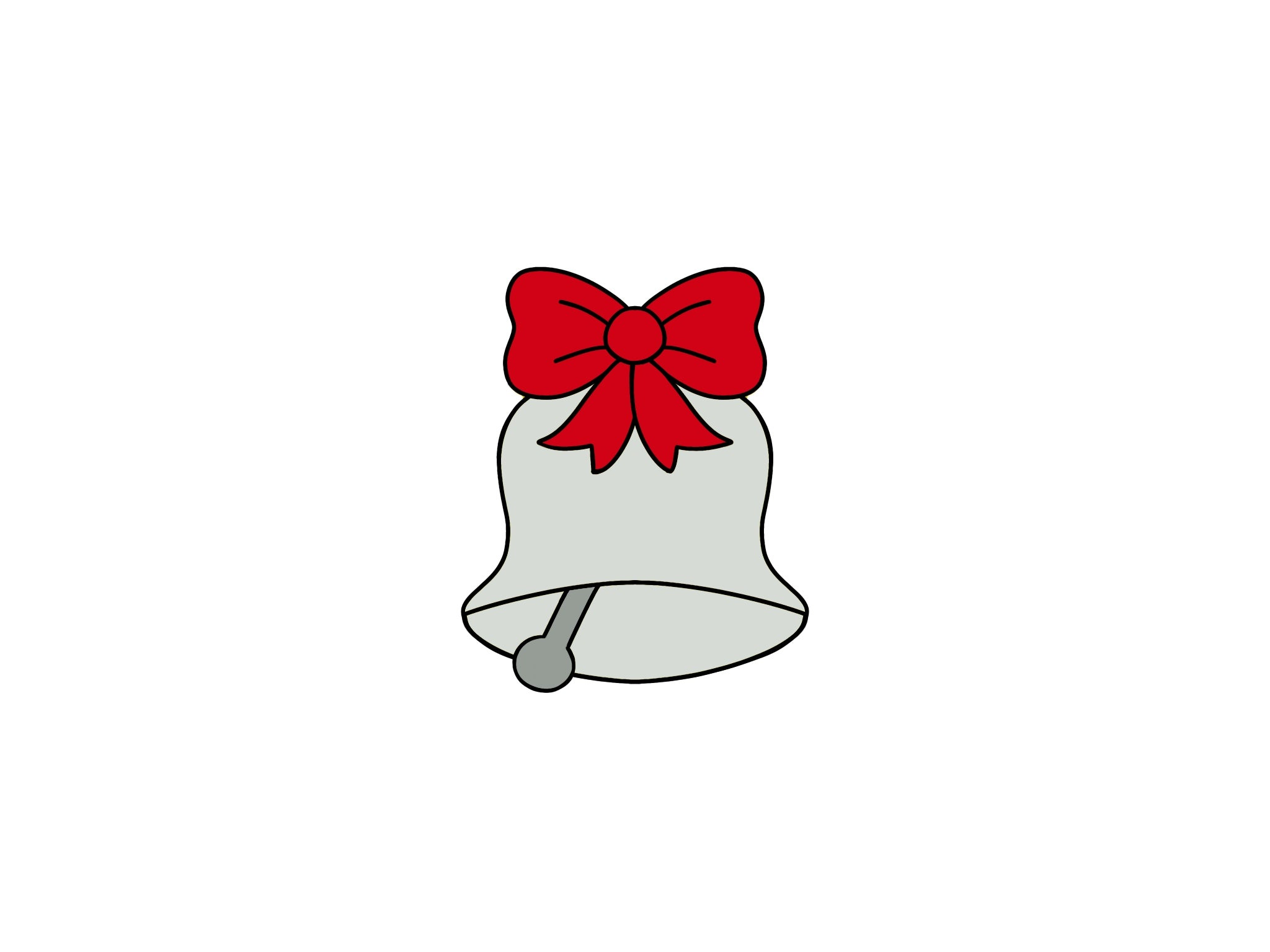 Bell with Christmas Bow