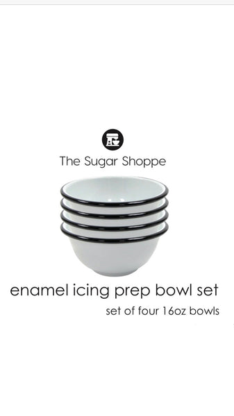 Enamel Vintage Farmhouse Mixing Bowl Set