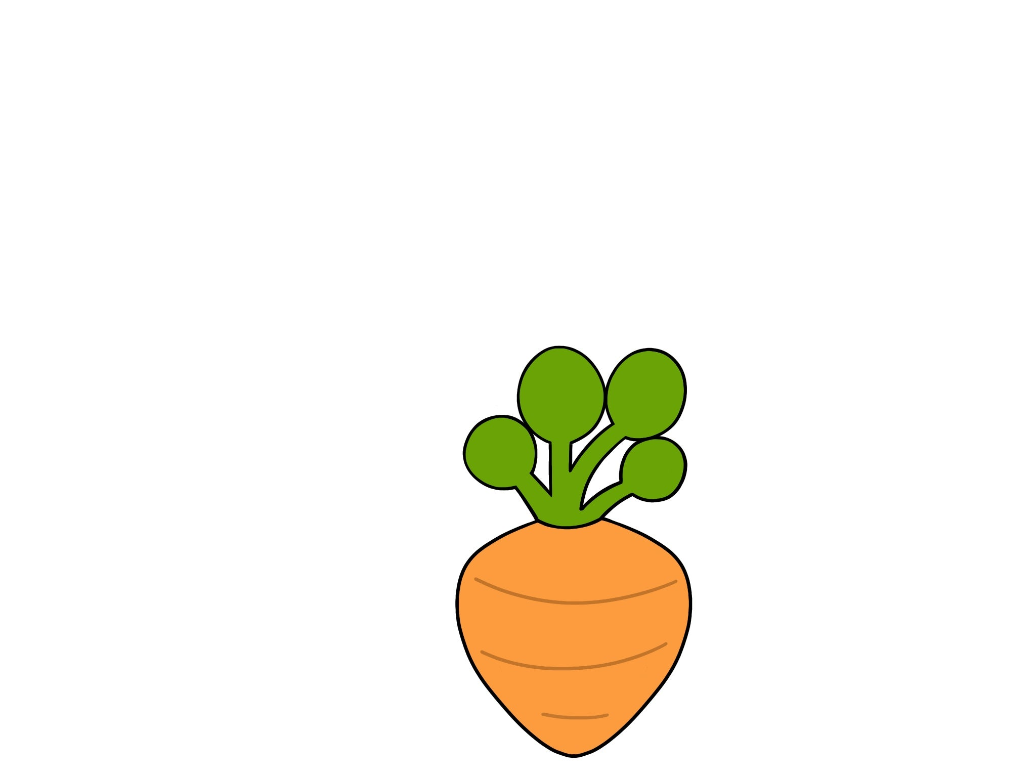 Chubby Carrot - Rounded Leaves