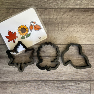 Fall Sunflower and Leaf Set