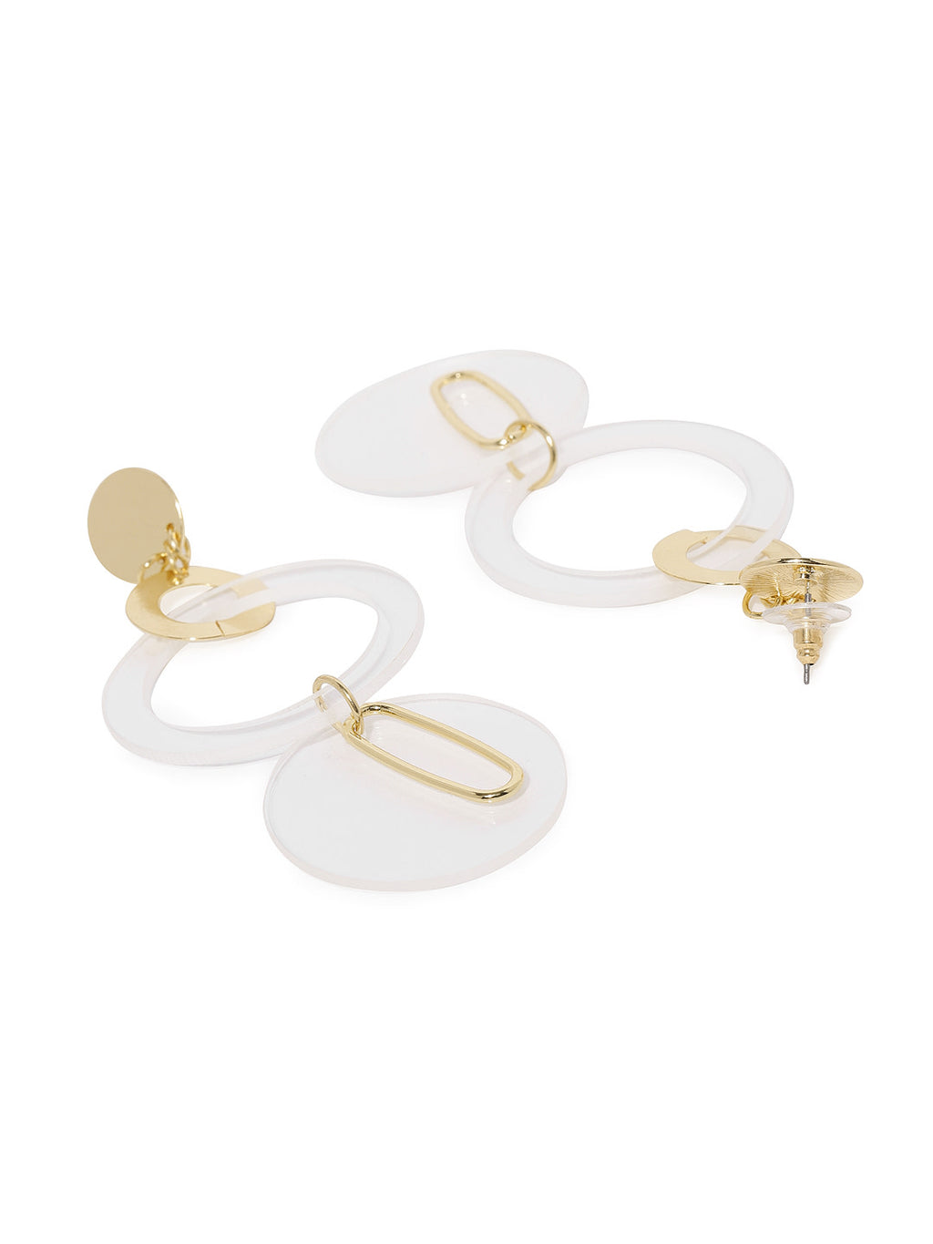 TRANSPARENT CIRCULAR DROP EARRINGS