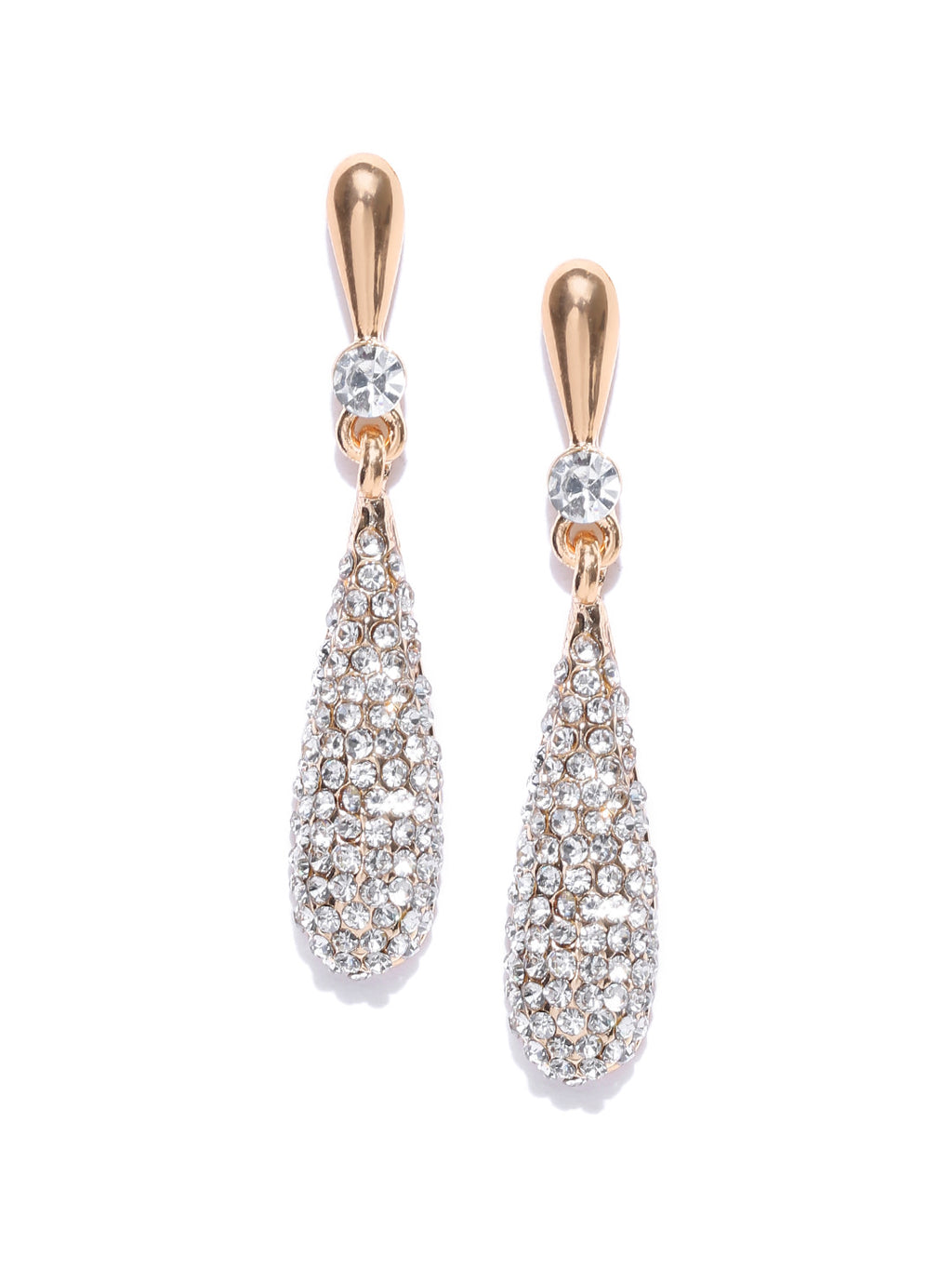 TEARDROP STUDDED DROP EARRINGS