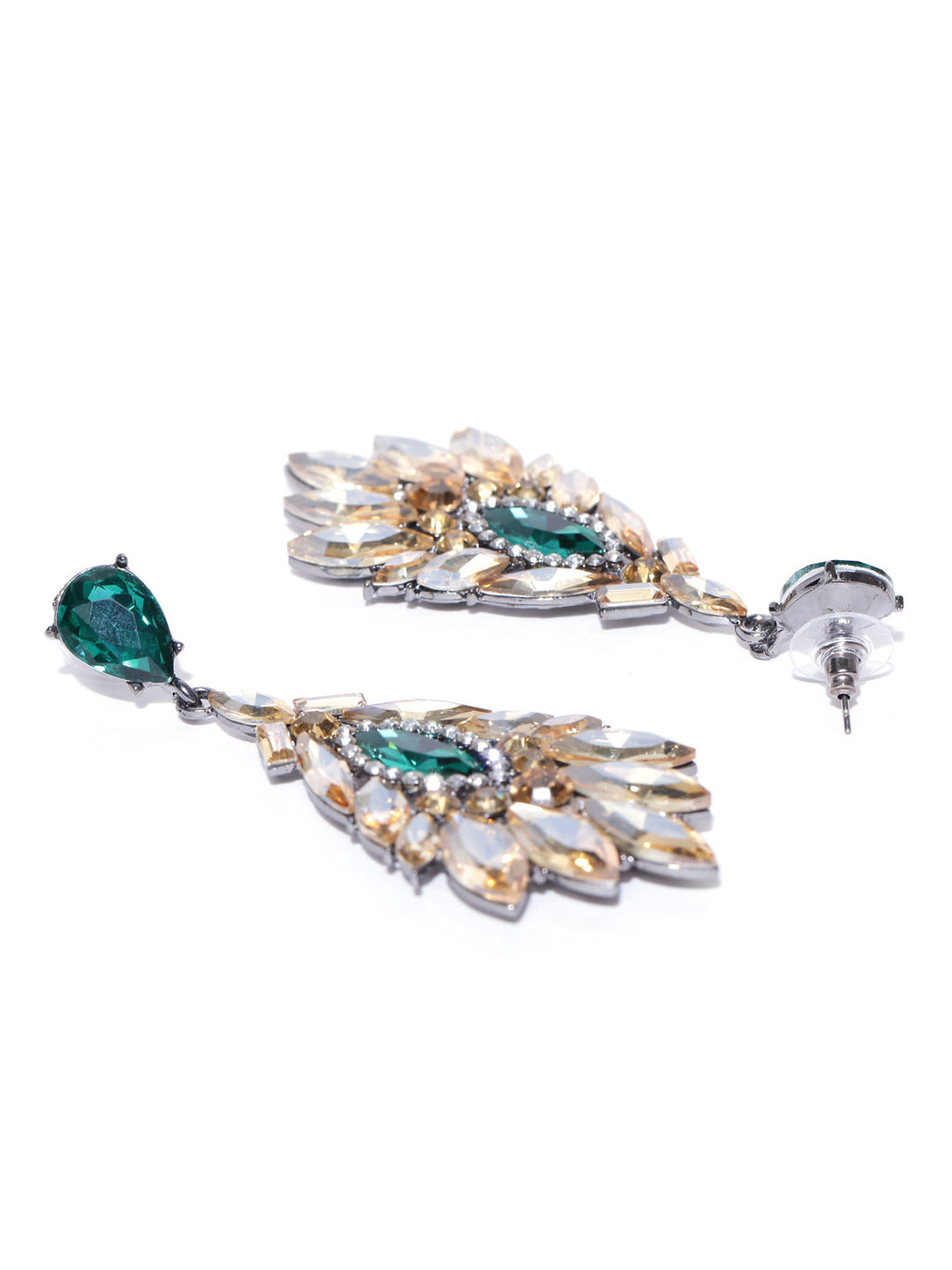 GREEN & YELLOW DROP EARRINGS - chique boutique