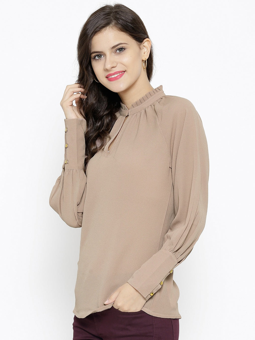 GEORGETTE TEXTURED TOP - chique boutique