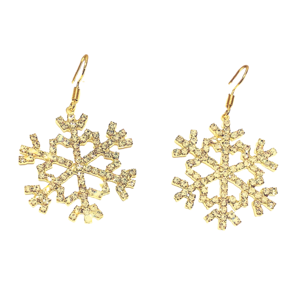 gold showflake earrings