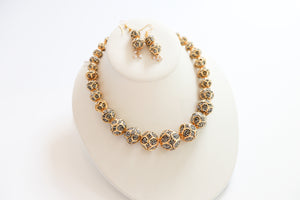 GOLD CRYSTAL SET