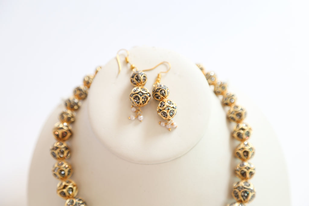 GOLD SWAROVSKI SET