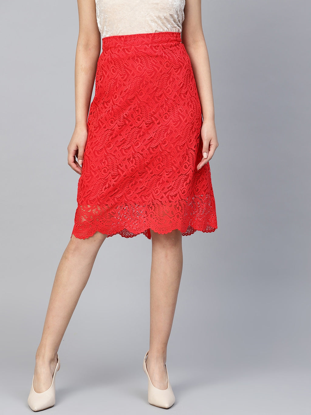 LACE A-LINE SKIRT - chique boutique