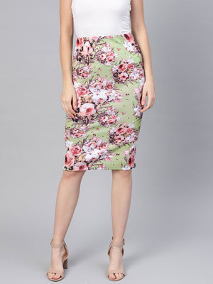PRINTED PENCIL SKIRT - chique boutique