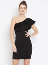 SIDE SHOULDER BODYCON DRESS - chique boutique