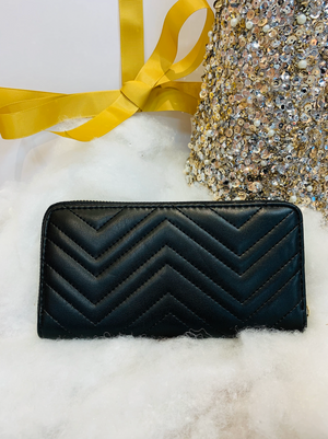 LARGE QUILTED ZIPPER WALLET