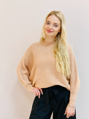 PEACH CROP SWEATER