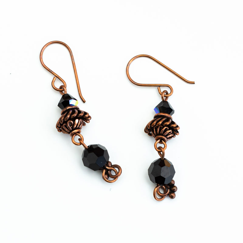 CRYSTAL BROWN EARRINGS
