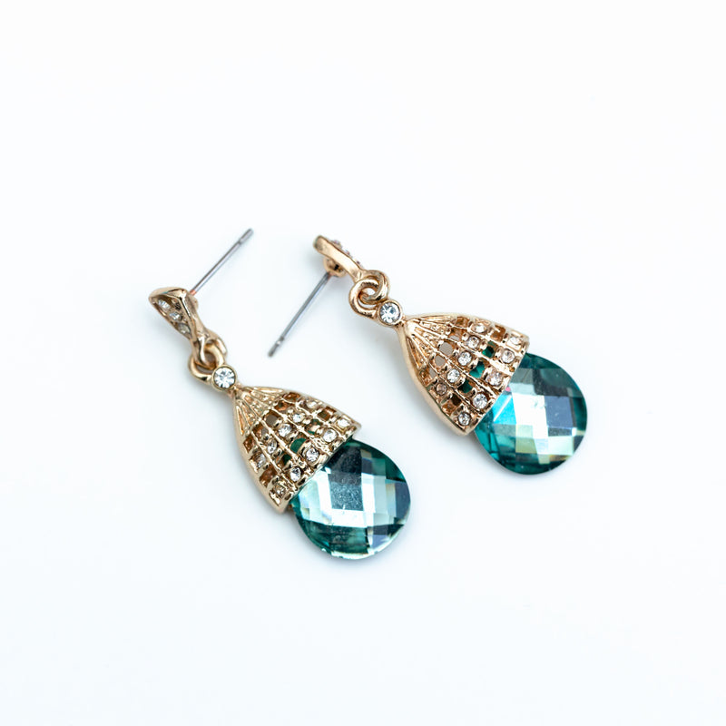 EMERALD WATER DROP EARRINGS