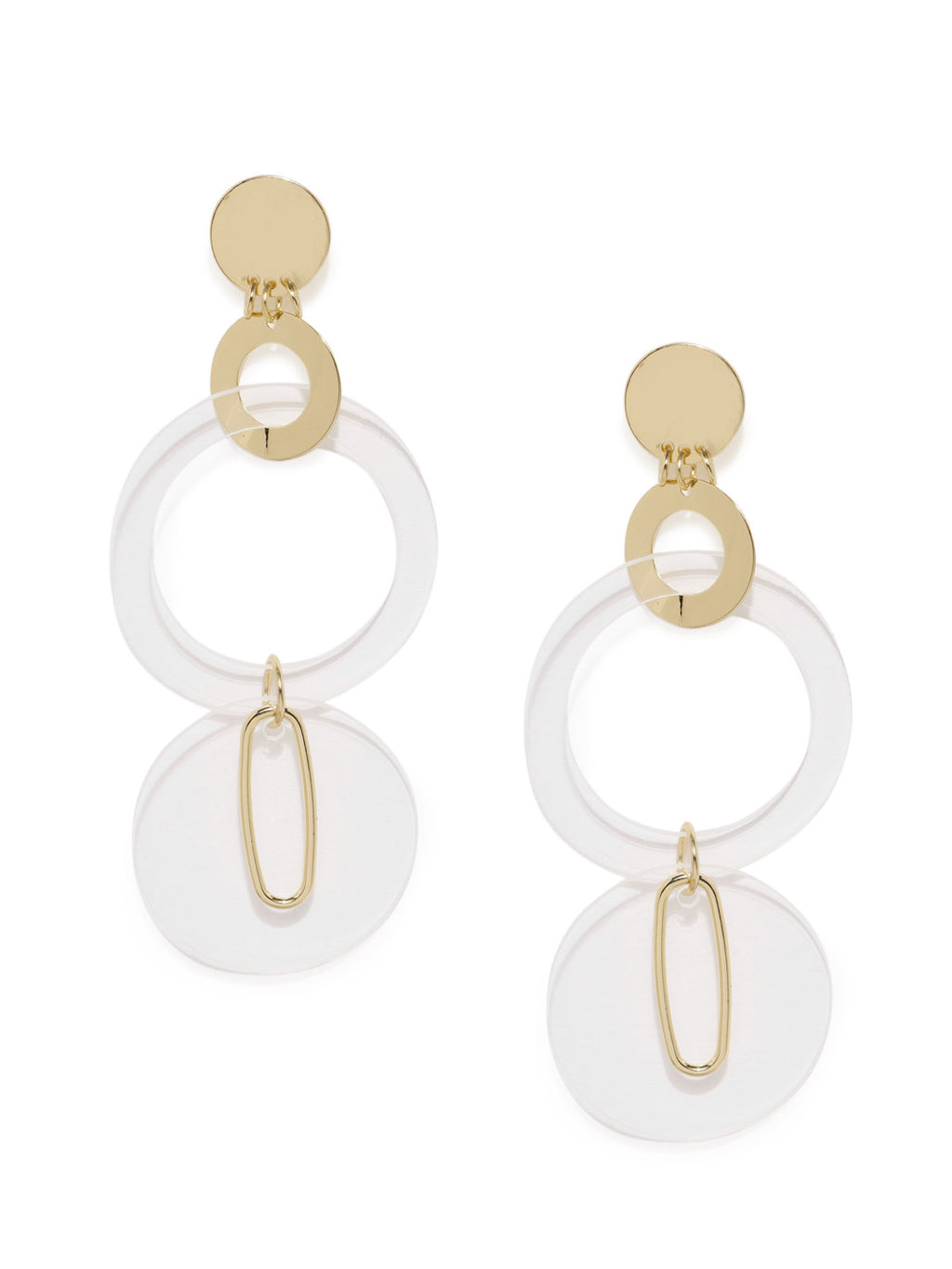 TRANSPARENT CIRCULAR DROP EARRINGS - chique boutique