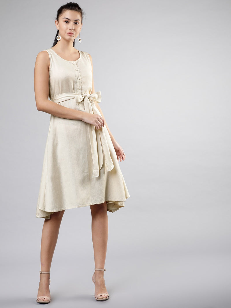 KHADI SLEEVELESS DRESS