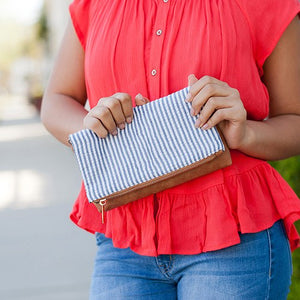 COTTON FABRIC CLUTCH PURSE