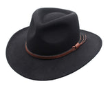 Denver Outback Wool Cowboy Hat in Black