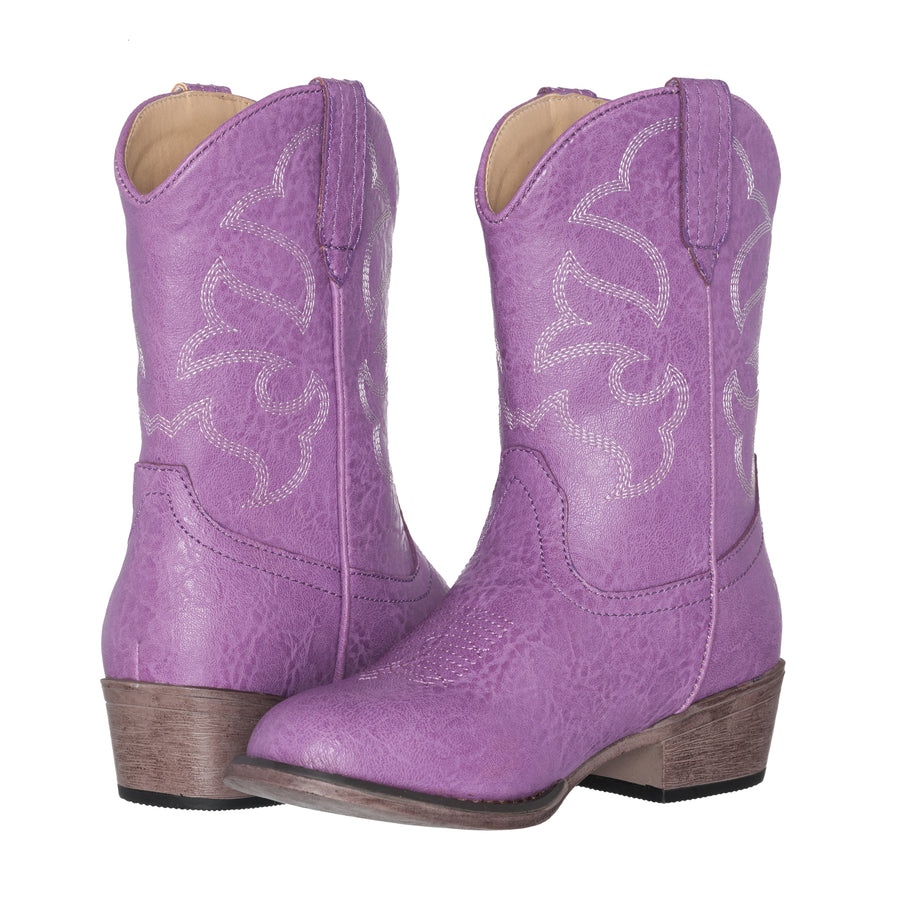 Children Western Kids Cowboy Boot | Monterey Purple for Girls by Silver Canyon