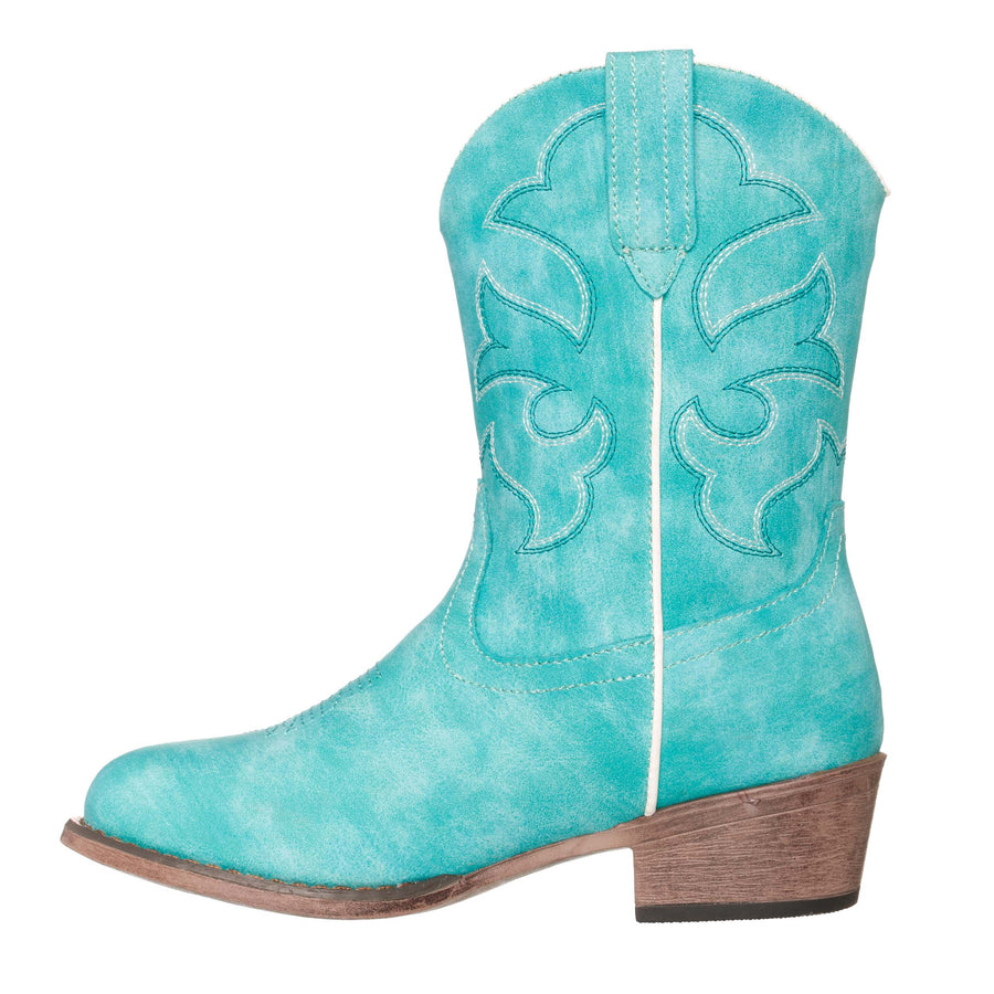 Children Western Kids Cowboy Boot | Monterey Turquoise for Girls by Silver Canyon