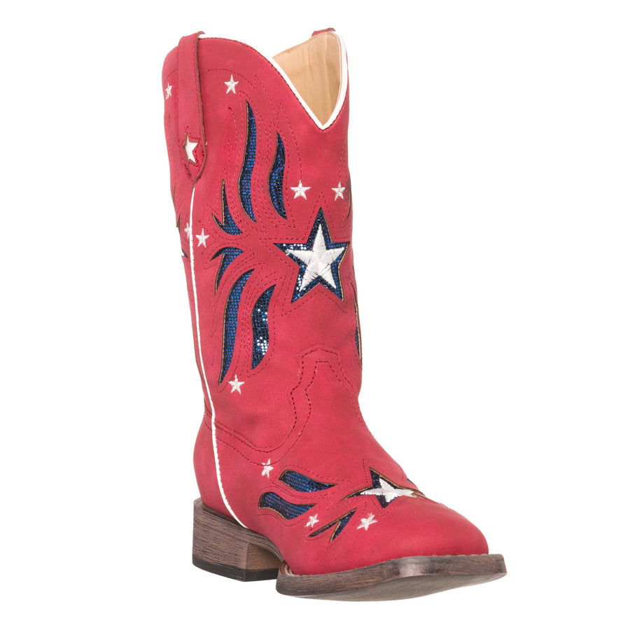 girls red cowboy boots