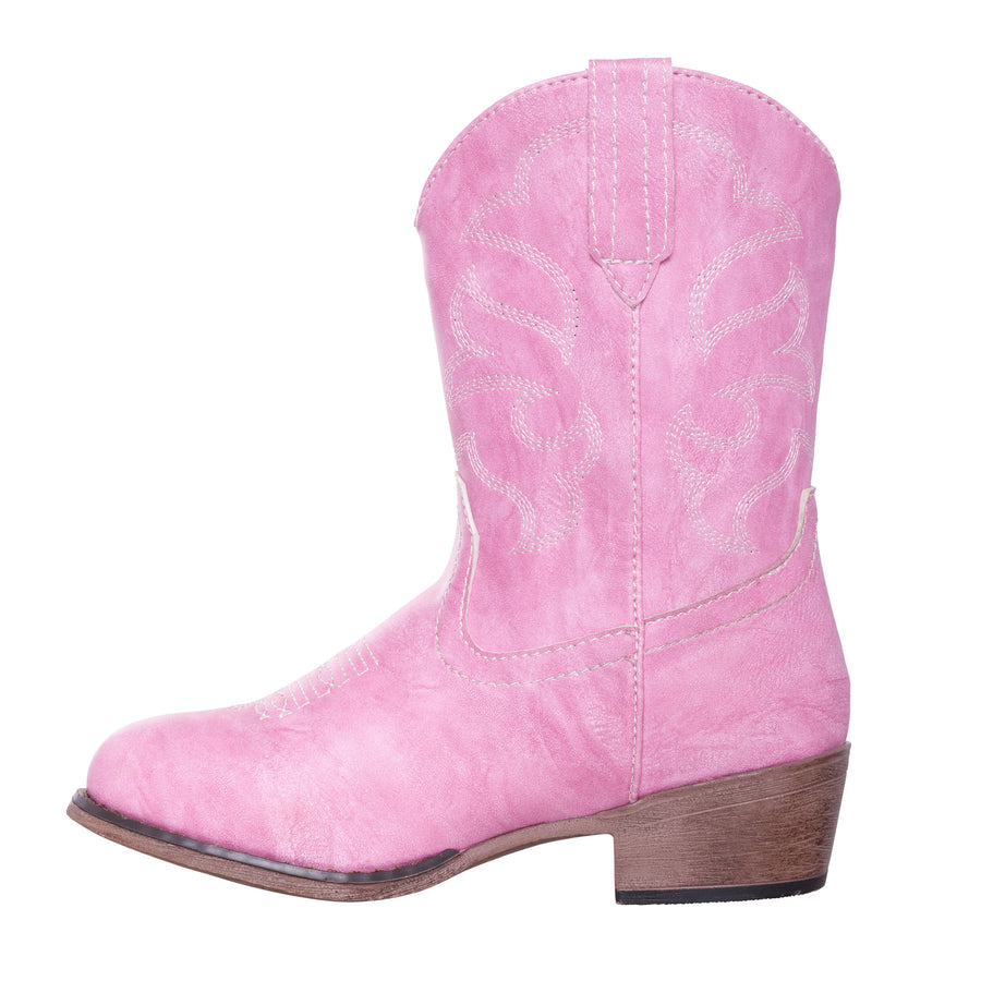 Children Western Kids Cowboy Boot | Youth Monterey Pink for Girls by Silver Canyon