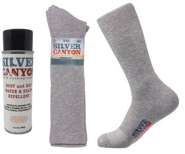 Silver Canyon Boot Sock and Water Stain Protector Repellent Bundle