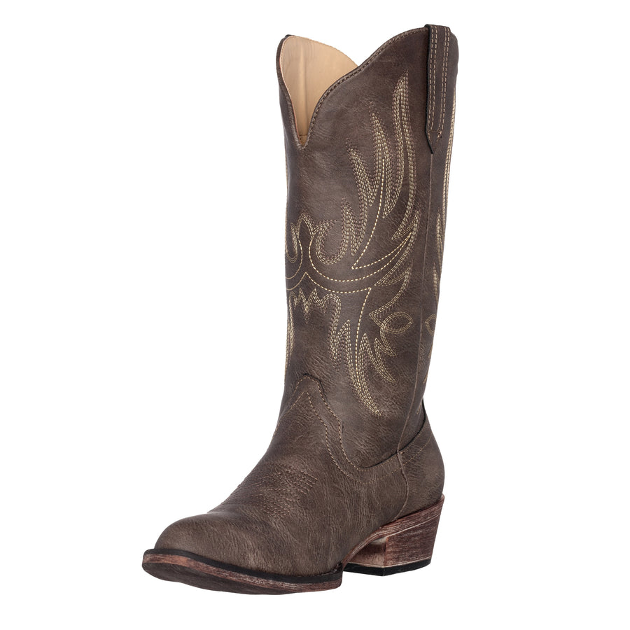 Women's Western Cowgirl Cowboy Boot | Brown Dallas Pointed Toe by Silver Canyon