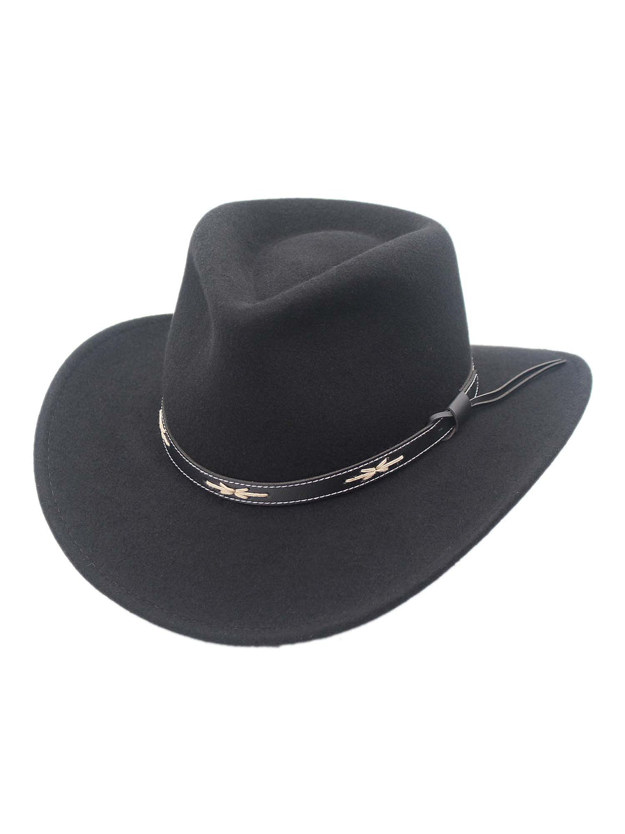 Santa Fe Crushable Wool Felt Outback Western Style Cowboy Hat by Silver Canyon