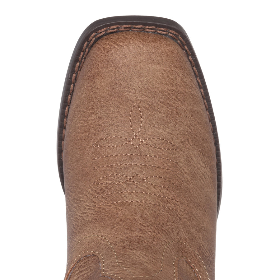Children Western Kids Cowboy Boot | Austin Brown Square Toe for Boys and Girls by Silver Canyon