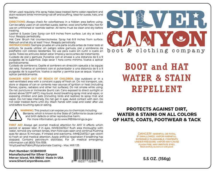 Silver Canyon Boot and Hat Water and Stain Repellent, 5.5oz (2-Pack)