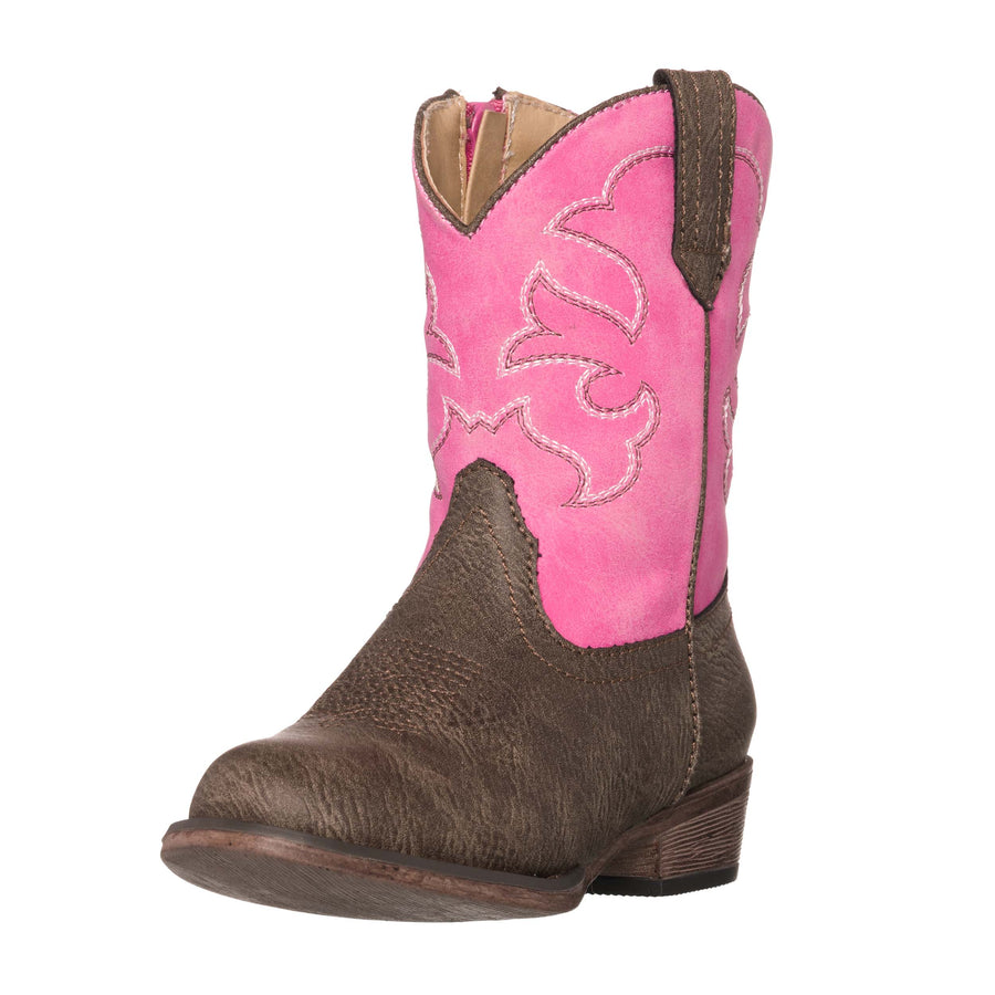 Children Western Kids Cowboy Boot | Toddler Monterey Pink Brown for Girls by Silver Canyon