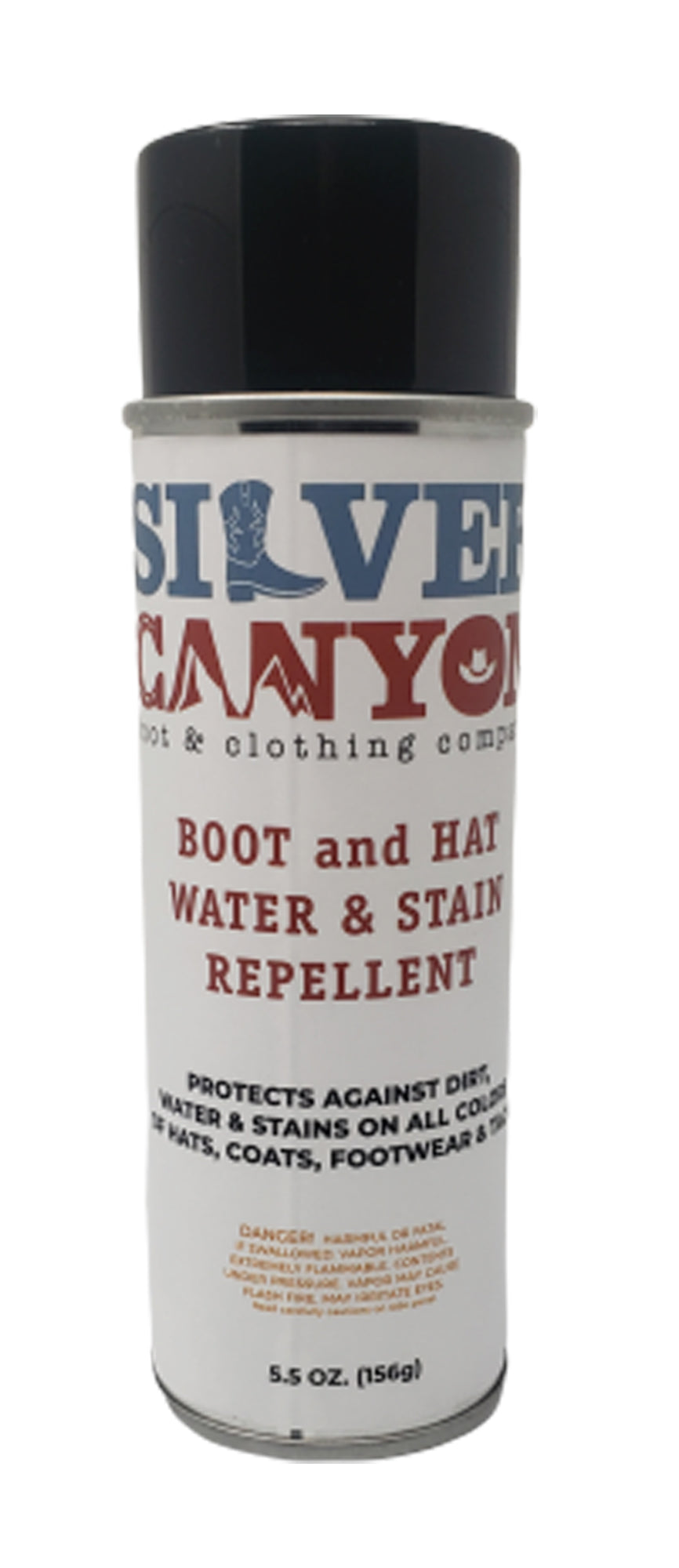 Silver Canyon Boot and Hat Water and Stain Repellent, 5.5oz, Leather and Suede Protector Waterproofing Spray Guard