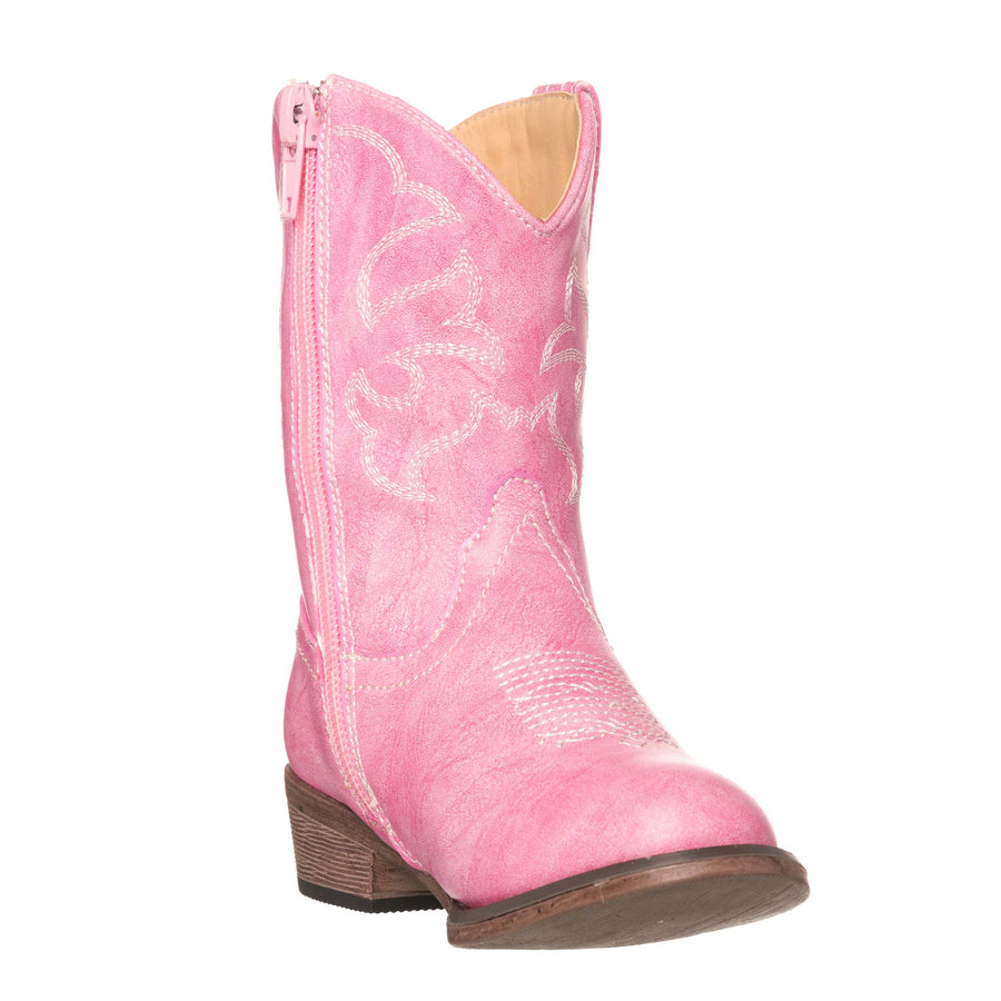 Children Western Kids Cowboy Boot | Toddler Monterey Pink for Girls by Silver Canyon