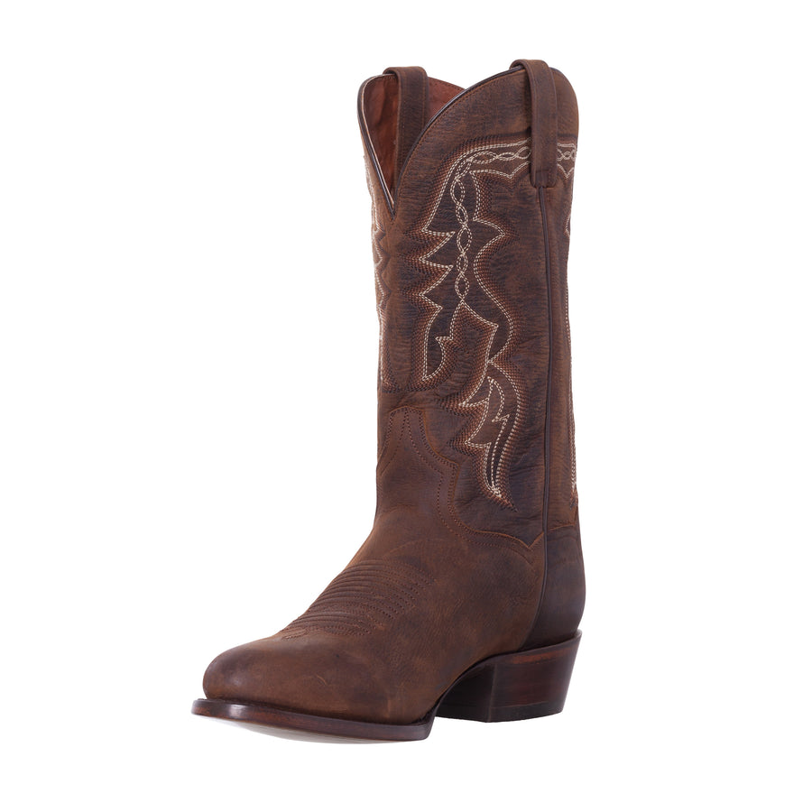 Silver Canyon Mens Renegade Distressed Brown R Toe Western Cowboy Boot