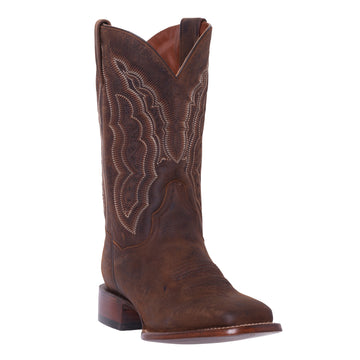 Silver Canyon Womens Stampede Distressed Brown Square Toe Western Roper Cowboy Boot