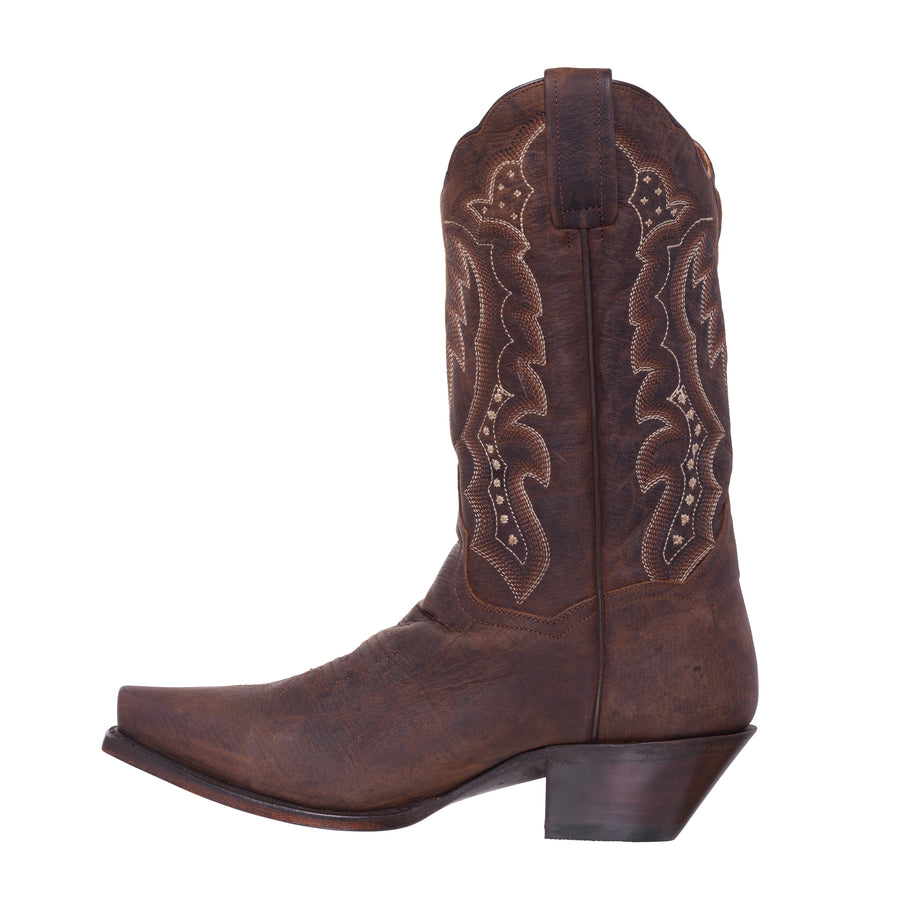 Silver Canyon Womens Stampede Distressed Brown Snip Toe Western Cowboy Boot