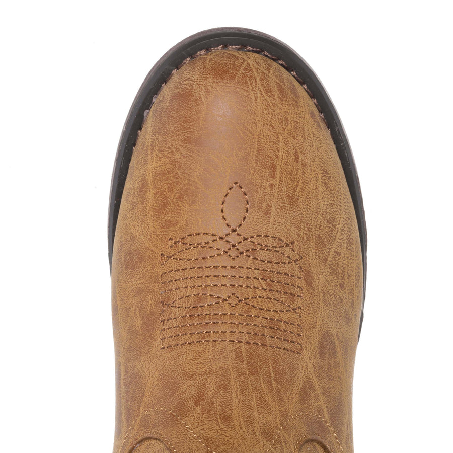 Children Western Kids Cowboy Boot | Monterey Tan for Boys and Girls by Silver Canyon