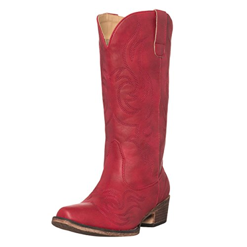 Womens Western Cowgirl Cowboy Boot, Red