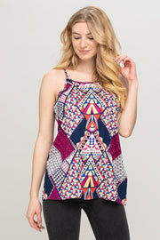 MULTI COLOR SLEEVELESS TOP